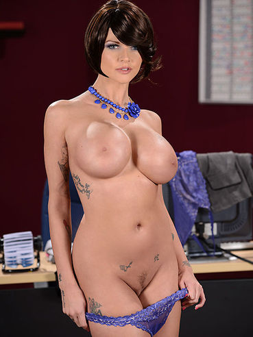 Curvaceous Brunette With Big Boobs Joslyn James Rubs Dick By Her Feet And Gets Owned