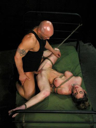 Man In Boots Shows No Mercy Banging Tied Up Busty Slave Lady Kayla Paige