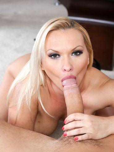 Big Blonde Milf Katja Kassin Tucks Into Oral Sex By Slobbering A Giant Boner In Pov.