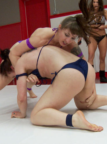 Daisy Ducati And Fetish Babes Arm Wrestle Then Start Cat Fights Where They Rub And Tease Slits.