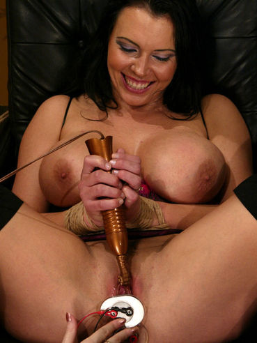 Chanta Rose Punishes Holes Of Big Racked Brunette Angelica Sin With Electro Toys