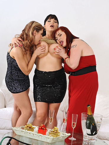 Ridiculously Busty Trio Of Roxanne Miller, Katerina Hartlova And Joanna Bliss Have Lesbian Fun