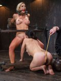 Blonde Cherie Deville And Bondage Lover Juliette March Naked And Getting Their Bodies Teased.