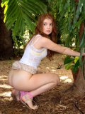 Nude Redhead Doll Ava Sparxxx Notices The Cam Shooting Her Outdoor But She Does Not Feel Shame