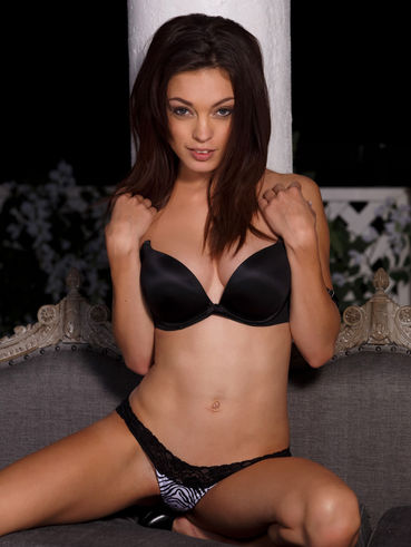 Brunette Beauty Taylor Ashley Removes Her Cute Panties And Toys That Eager Slit