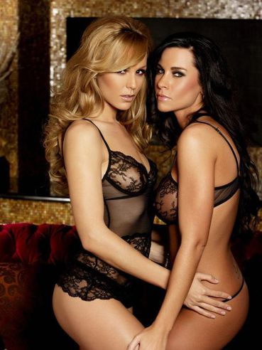 Crystal Klein And Laura Lee Are Two Smoldering Hot Lesbian Babes Wearing Lingerie And Getting Nu