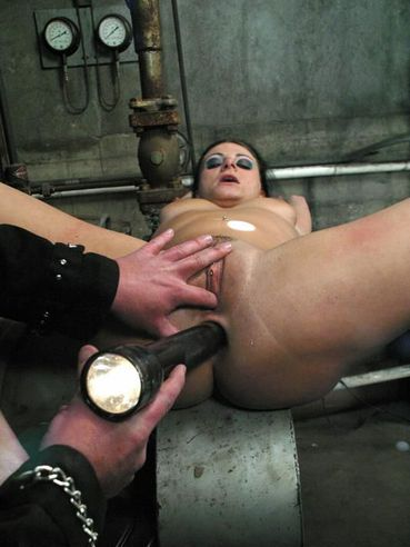 Dark Haired Slave Nikki Nievez With Big Natural Tits Gets Her Loose Pierced Pussy Fucked