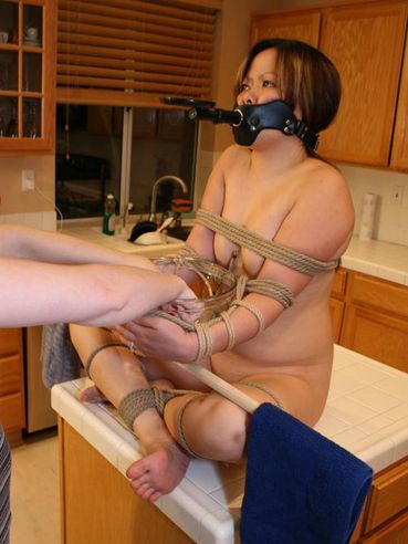 Angela stone tied up and buzzing 8