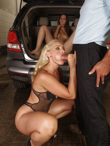 Naughty Mira Sunset Seduces Kathia Nobili In The Garage And Pleases Her In The Car