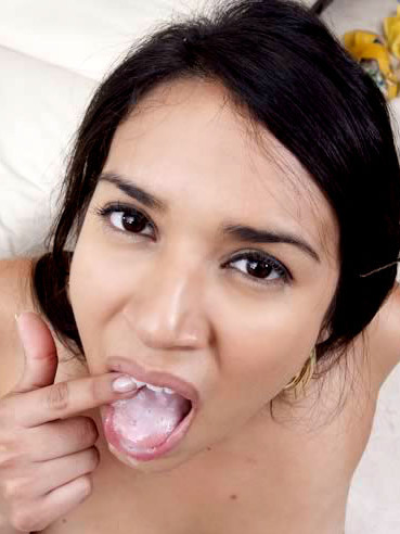 Sexy Assed Annika Adams Gets Her Latin Pussy Fucked Before She Eats Sweet Cum Of Her Lover